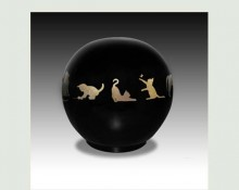 CAT BALL PET URN-ULA02