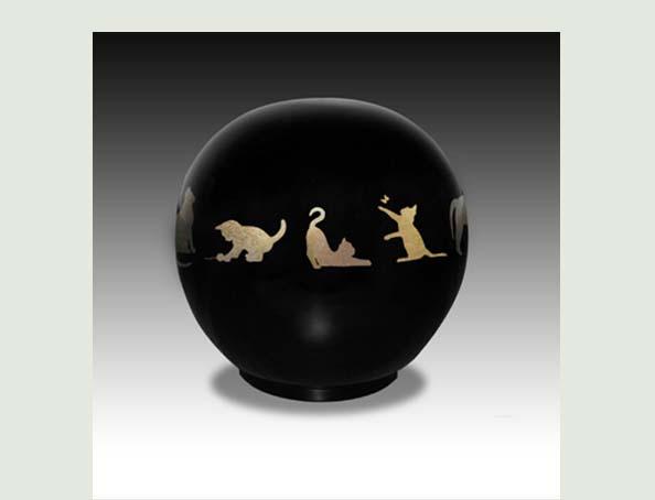 CAT BALL PET URN-ULA02