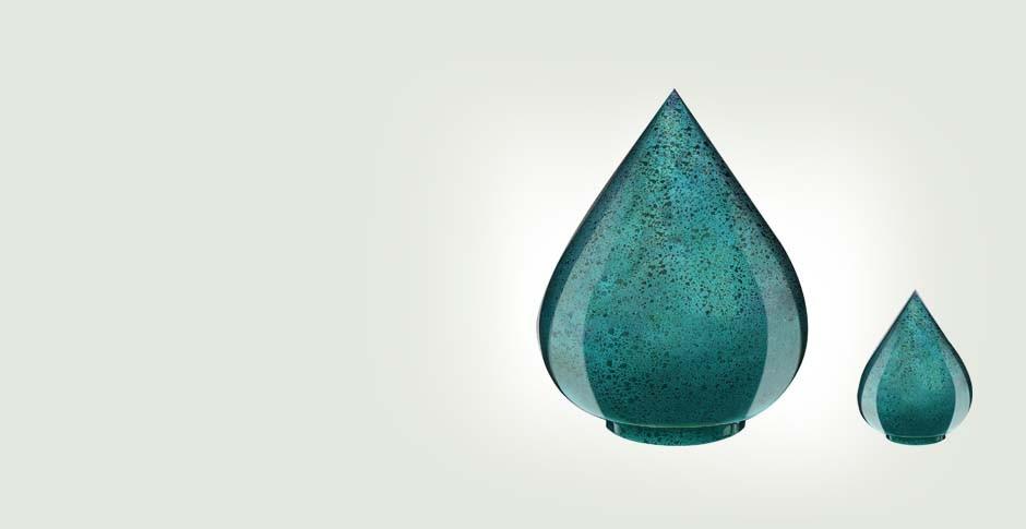 Fiberglass cremation urn