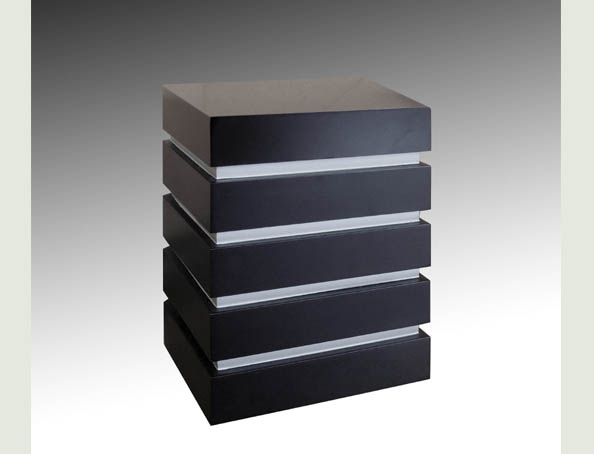 CUBE WITH SILVER LINES CREMATION URN-UL050
