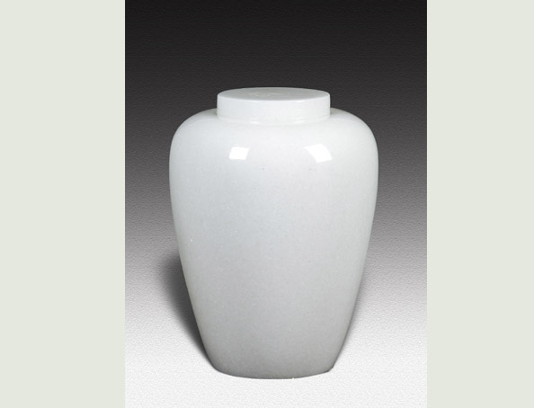 DORIS WHITE MARBLE URN-UP012A