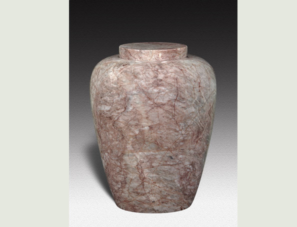 DORIS PINK MARBLE URN-UP012D